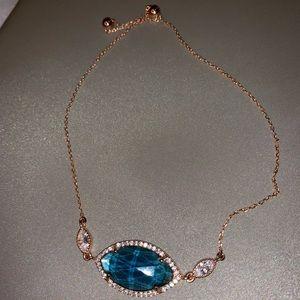 Gem and diamond bracelet